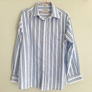 Eighty Eight Striped Button Down Shirt - L
